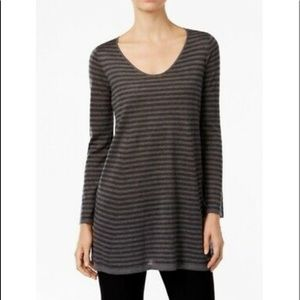 Eileen Fisher Dresses - 🛍Eileen Fisher | Tunic Gray Stripe Dress